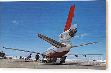 Wood Print featuring the photograph Dc-10 Air Tanker  by Bill Gabbert