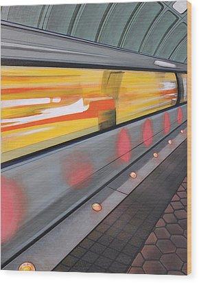 Dc Light Rail Wood Print by Jude Labuszewski