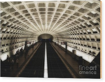 Wood Print featuring the photograph Dc Metro by Angela DeFrias