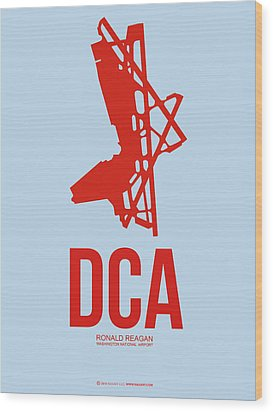 Dca Washington Airport Poster 2 Wood Print by Naxart Studio