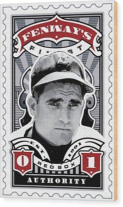 Dcla Bobby Doerr Fenway's Finest Stamp Art Wood Print by David Cook Los Angeles