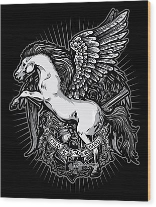 Dcla Cold Dead Hand Pegasus Wood Print by David Cook Los Angeles