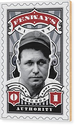 Dcla Jimmie Fox Fenway's Finest Stamp Art Wood Print by David Cook Los Angeles