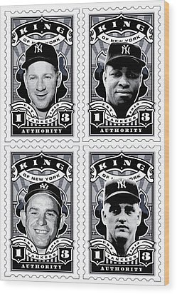 Dcla Kings Of New York Combo Stamp Artwork 2 Wood Print by David Cook Los Angeles