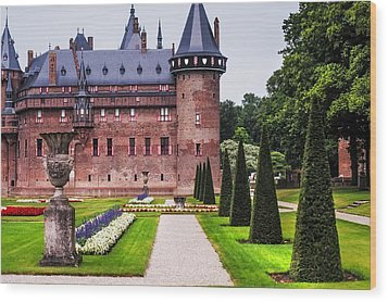 De Haar Castle 2. Utrecht. Netherlands Wood Print by Jenny Rainbow