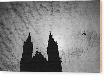 De Krijtberg Wood Print by Shari Mattox