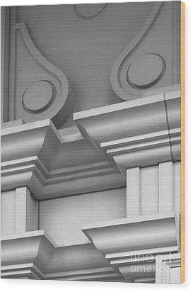 De Pauw University Detail Wood Print by University Icons