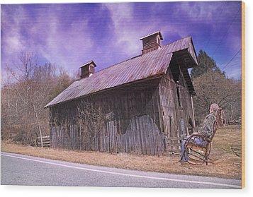Dead Men Don't Tell Tales Wood Print by Betsy Knapp