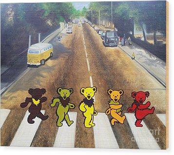 Dead On Abbey Road Wood Print by Jen Santa