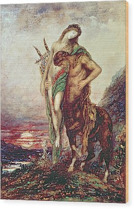 Dead Poet Borne By Centaur Wood Print by Gustave Moreau