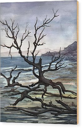 Wood Print featuring the painting Dead Sea Inhabitant by Mikhail Savchenko
