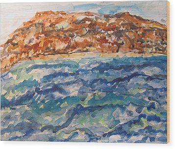 Dead Sea Reflections Wood Print by Esther Newman-Cohen