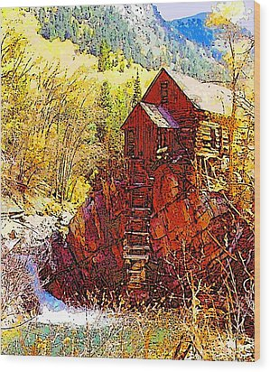 Deadhorse Mill Wood Print by Dan Miller