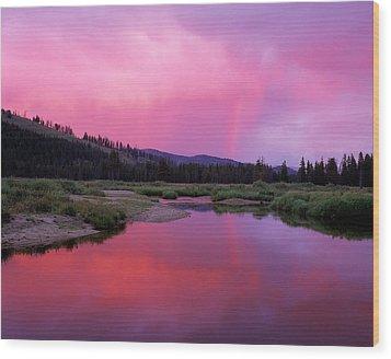 Deadwood River Wood Print by Leland D Howard