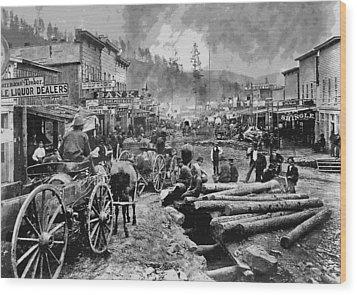 Deadwood South Dakota C. 1876 Wood Print by Daniel Hagerman