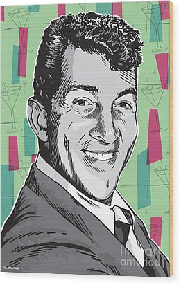 Dean Martin Pop Art Wood Print by Jim Zahniser
