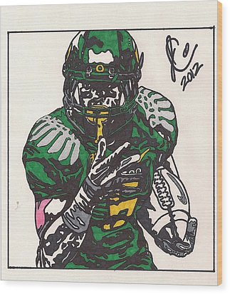 De'anthony Thomas Wood Print by Jeremiah Colley
