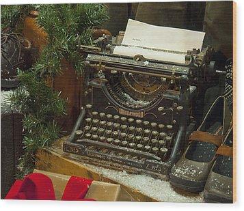 Dear Santa Wood Print by Craig T Burgwardt