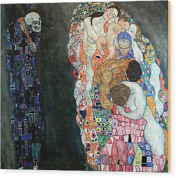 Death And Life Wood Print by Gustive Klimt