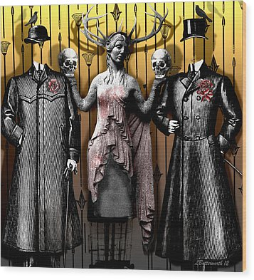 Death And The Maiden Wood Print by Larry Butterworth