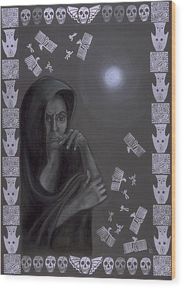 Death Crone Wood Print by Diana Perfect