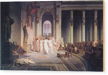 Death Of Caesar Wood Print