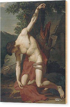 Death Of Saint Sebasian Wood Print by Francois Xavier Fabre