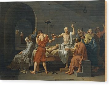 Death Of Socrates Wood Print