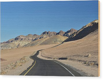 Wood Print featuring the photograph Death Valley Meander by Dana Sohr