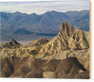 Death Valley Np Zabriskie Point 11 Wood Print by Jeff Brunton