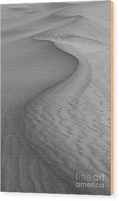 Death Valley Sand Dunes Wood Print by Juli Scalzi
