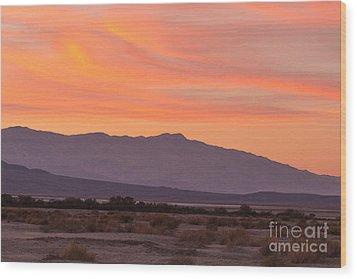 Death Valley Sunset Wood Print