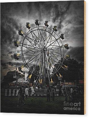 Death Wheel  Wood Print