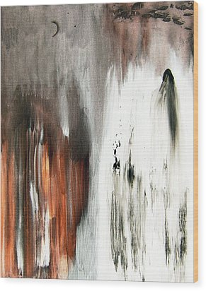 Wood Print featuring the painting Deathless by Christine Ricker Brandt