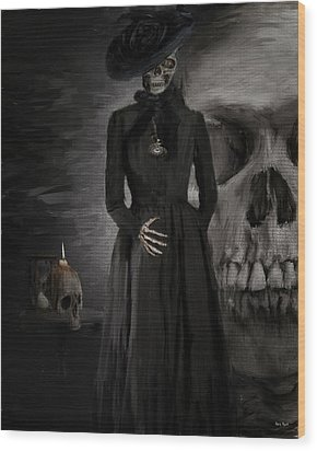 Deathly Grace Wood Print by Lourry Legarde