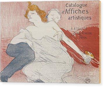 Debauche Deuxieme Planche Wood Print by Henri de Toulouse-Lautrec