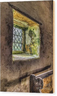 Decay Wood Print by Adrian Evans