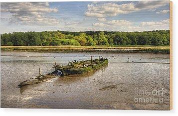 Decay Boats Wood Print by Svetlana Sewell