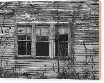 Decay Wood Print by Hazel Billingsley