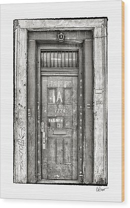 Decaying Beauty In Black And White Wood Print by Brenda Bryant