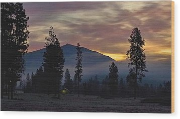 Wood Print featuring the photograph December Dawn by Julia Hassett