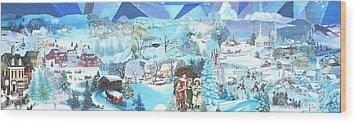 December Evening Landscape - Sold Wood Print