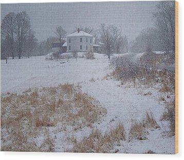 December Wood Print by Joy Nichols
