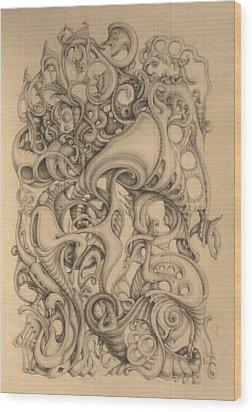 December Wood Print by Mikhail  Riabtsovski