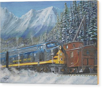 December On Stampede Pass Wood Print by Christopher Jenkins