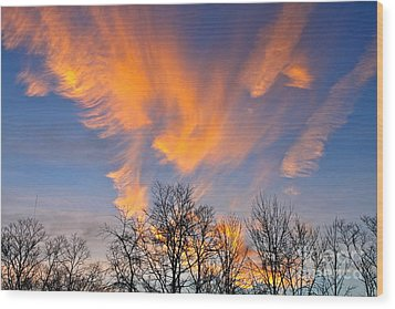 December Sunrise Wood Print