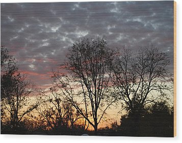 Wood Print featuring the photograph December Sunset by Ramona Whiteaker