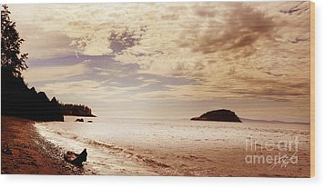 Deception Bay Washington Wood Print by Artist and Photographer Laura Wrede