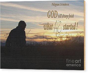 Declare Gods Word Wood Print by Beverly Guilliams