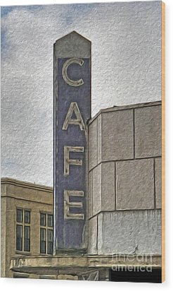 Deco Cafe - 01 Wood Print by Gregory Dyer